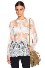 ZIMMERMANN esplanade lace long sleeve blouse / top - winter white 1 S