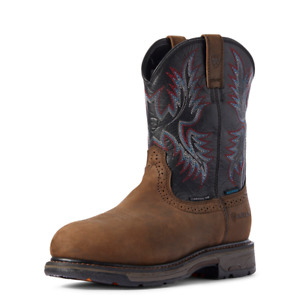 Ariat WORKHOG H20 Mens COMPOSITE TOE 10031562 Oily Distressed Brown/Black Boots
