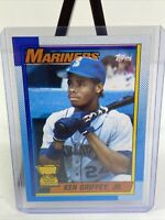 1990 Topps Ken Griffey Jr #336 Rookie Cup Bloody Scar Error Card Mariners HOF