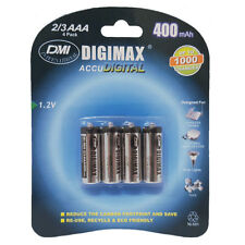 4 x 2/3 AAA 400 mAh 1.2V Rechargeable NI-MH Batteries for Idect Phone