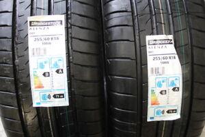 NEW 255 60 18 Bridgestone Alenza 001, 108w, x2, DOT 4018, 4x4 Tyres (Discount)