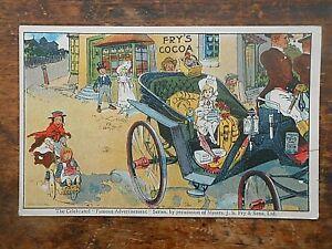 ** FRY'S COCOA Girl in Landau ** Advertising Postcard
