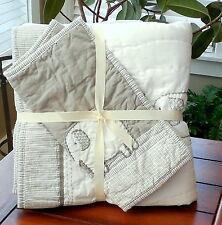 Pottery Barn Kids Taylor Baby Bedding 2 Pc Set Quilt U0026 Sham Unisex Gray NWT