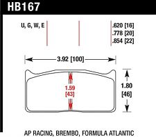 Hawk Perf HB167E.620 Disc Brake Pad