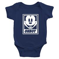 Infant Baby Rib Bodysuit Jumpsuit Romper Babysuit Funny Mickey Mouse OHBOY Obey