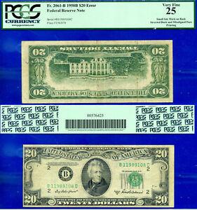 Error Note - 1950-B $20 FRN (( Inverted Back Error )) PCGS 25 # B11989108C-