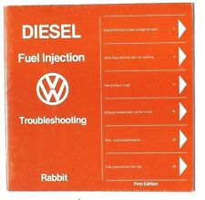 Vintage 1977 Volkswagen VW Diesel Fuel Injection Troubleshooting Rabbit Booklet