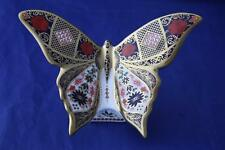 ROYAL CROWN DERBY SOLID GOLD BAND IMARI BUTTERFLY PAPERWEIGHT - NEW / BOXED
