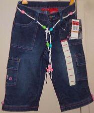 U.S. Polo Assn Girls Size 6X Jeans Shorts Capri Pink Blue Green Belt New NWT