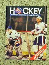 1991-92 Rochester Americans (AHL) David Littman/Bill Houlder cover game program