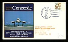 US Postal History Airmail Supersonic Transport Dallas TX 1979 Concorde Braniff