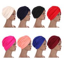 Indien Musulmane Femme Plissé Casquette Turban Foulard Hijab Bonnet Stretch Warp