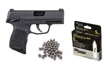 Sig Sauer P365 BB Gun Air Pistol with CO2 (5 Pack) and Pack of 100 Steel BBs
