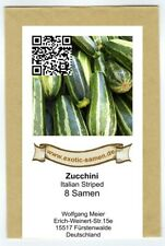 Zucchini - Italian Striped - 8 Samen