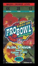 1999 Pro Bowl Ticket NFL Aloha Stadium 2/7/99 Ty Law Keyshawn Johnson MVP 24978