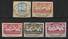 Freie Stadt Danzig 1923 Used Complete Set of 5 Michel #133-137 Cv €100