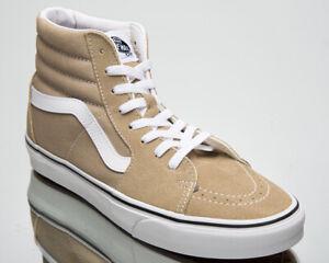 Vans Sk8-Hi Unisex Men's Women's Beige White Athletic Lifestyle Sneakers Shoes