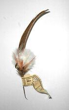 Alte Hutfeder Vintage Nadler Sebnitz Handarbeit 1950er Deko Feder hat feather (5