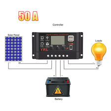 10-50A LCD Solar Panel Controller Regulator Charge Chargers Battery Protection