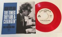 BOB DYLAN / The Times They Are A-Changing / Promo RSD '10 45 w/ PS / Mint
