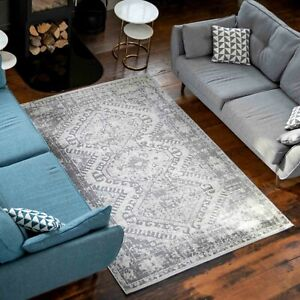 New Grey Silver Traditional Rugs for Living Room Moroccan Contemporary Area Rugs