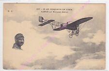 CPA AVIATION PLANE AVION AUBRUN monoplan Blériot  conquête de l air