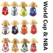 Dog Tshirt Sport World Cup Nba Soccer Basketball Team Small Pet Cat Vest Apparel
