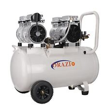 ORAZIOⓇ Tipo Silencioso Sin aceite Compresor De Aire 50L 2 Motores
