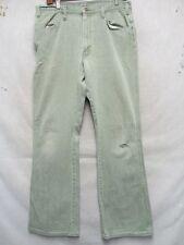 D7292 JCPenney Vintage Green Cool 70's Jeans Men's 33x32