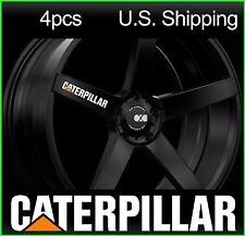 4 CATERPILLAR Stickers Decals Wheels Rims Mirror Truck CAT pick-up WHITE