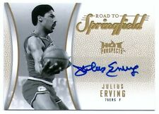 JULIUS ERVING 08 HOT PROSPECTS ROAD TO SPRINGFIELD AUTO CARD 6/10! JERSEY NUMBER