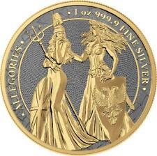 Germania 2019 5 Mark Germania & Britannia - Rhodium & Gold - 1 Oz Silver Coin