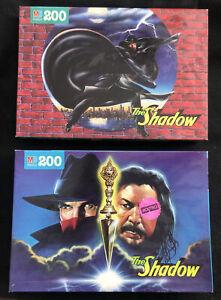 "2x Milton Bradley 1994 ""The Shadow"" 200 Piece Puzzle New Unopened"