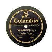 "MORAN & MACK (Luckeyth Roberts Piano) ""Two Black Crows"" COLUMBIA 4927 [78 RPM]"