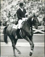 435975) Altes Pressefoto Sport Reiten, Monteal 1976, Harry Boldt auf Woyceck