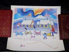 Yukon Quest 1992 Fairbanks Alaska Dog Sled Race Poster David Sawatzky Signed