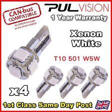 4 X libre de error Canbus 5 Smd Auto Led Hid Blanco W5w T10 501 lado luz bombillas
