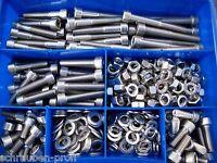 Innensechskantschrauben Sortiment Set Box 100 Teile DIN 912 EDELSTAHL A2 M8