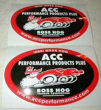 ACC Performance Products Plus Car Decals Stickers 2.75 In X 4 In NASCAR Set of 2