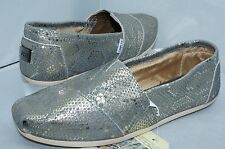 New Toms Women's Shoes Classics Metallic Flats Size 11 Loafers Snakes Slippers