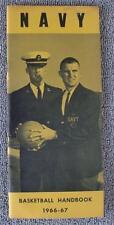 1966-67 NAVY Midshipmen Basketball Press/Media Guide                       (002)