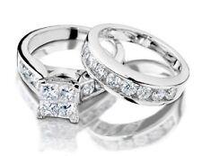 10KT GOLD WEDDING ENGAGEMENT DIAMOND BAND RING SET SZ 5 SZ 6 SZ 7 SZ 8 & 1/2 INB