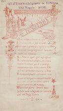 #1901-ARTIGLIERIA DA FORTEZZA-PROGR. DEI GIOCHI...INNALZAMENTO GLOBI AEROSTATICI