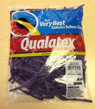 Qualatex Purple Violet 260Q Entertainer Balloons ~ 100 ct.