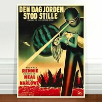 """Vintage Sci-fi Movie Poster Art ~ CANVAS PRINT 24x18"""" Day the Earth Stood Still"""