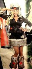 Fasching  Kostüm Nikita 3-tlg  ( Kleid Hut Stulpen) Russische Soldatin Gr M