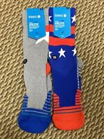 2 Pairs of Men's Fusion Athletic Stance Socks Large 9-12