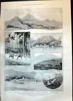 Old 1899 Hurricane West Indies Leeward Islands Nevis Kitts Davenport Victorian