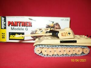 """CHAR SOLIDO PANTHER MODELE G N°236 SABLE   """"boite d'origine """" ANNEE 1973"""