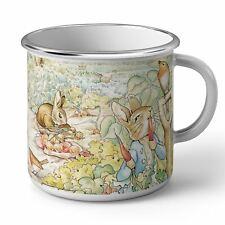 Mug en Métal Emaillé Petter Rabbit Pierre Lapin Jardin Illustration Enfant Beatr